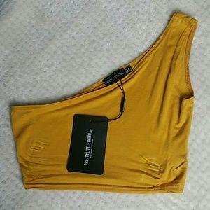 Women's PrettyLittleThing Crop top Yellow